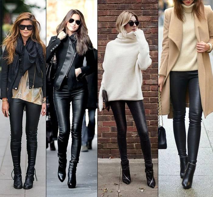 sito affidabile 61f58 5e391 I leggings di pelle sono perfetti per ogni occasione ...
